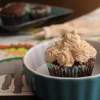 Snowed In: Brown Velvet Cupcakes and Creamy Not-Cheese Frosting