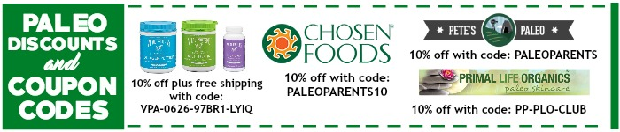 Paleo Discounts and Coupon Codes 2016