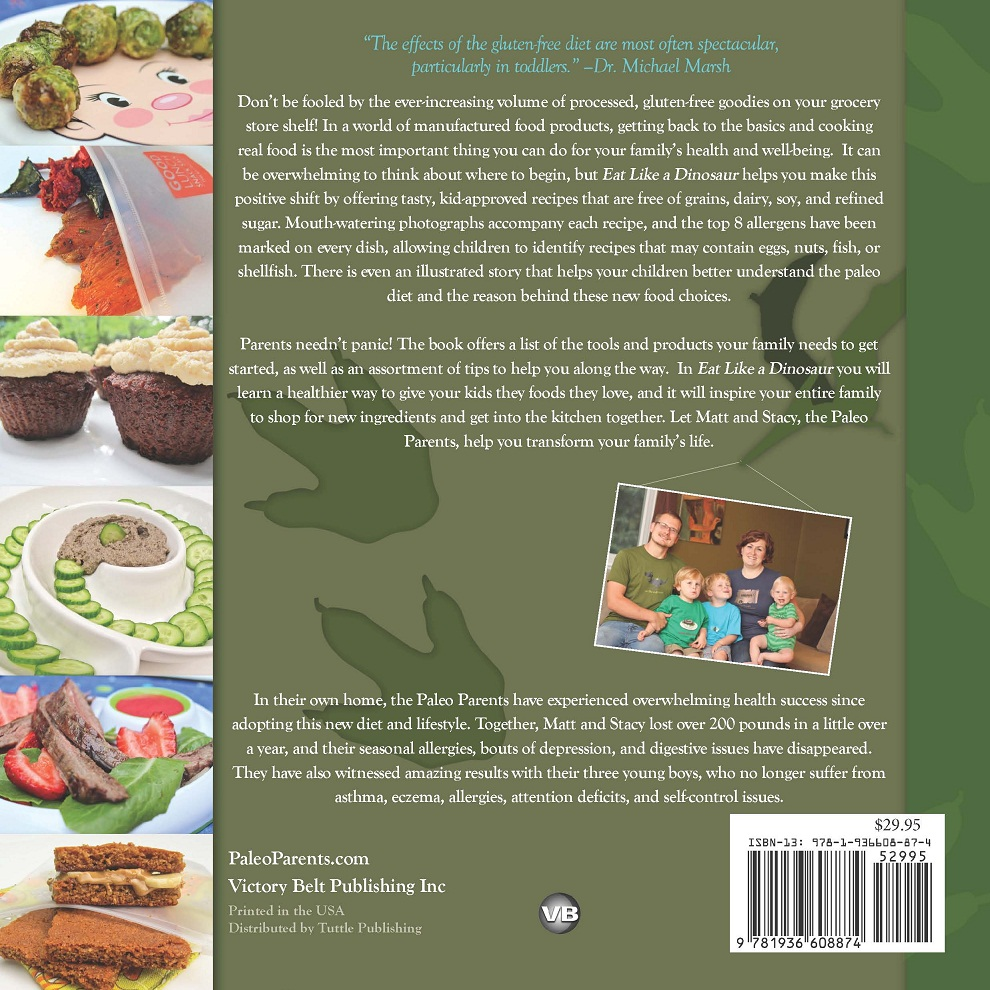 Cookbook Back Cover : Paleo parents cookbooks