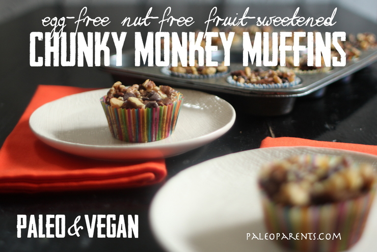 Chunky Monkey Muffins on PaleoParents