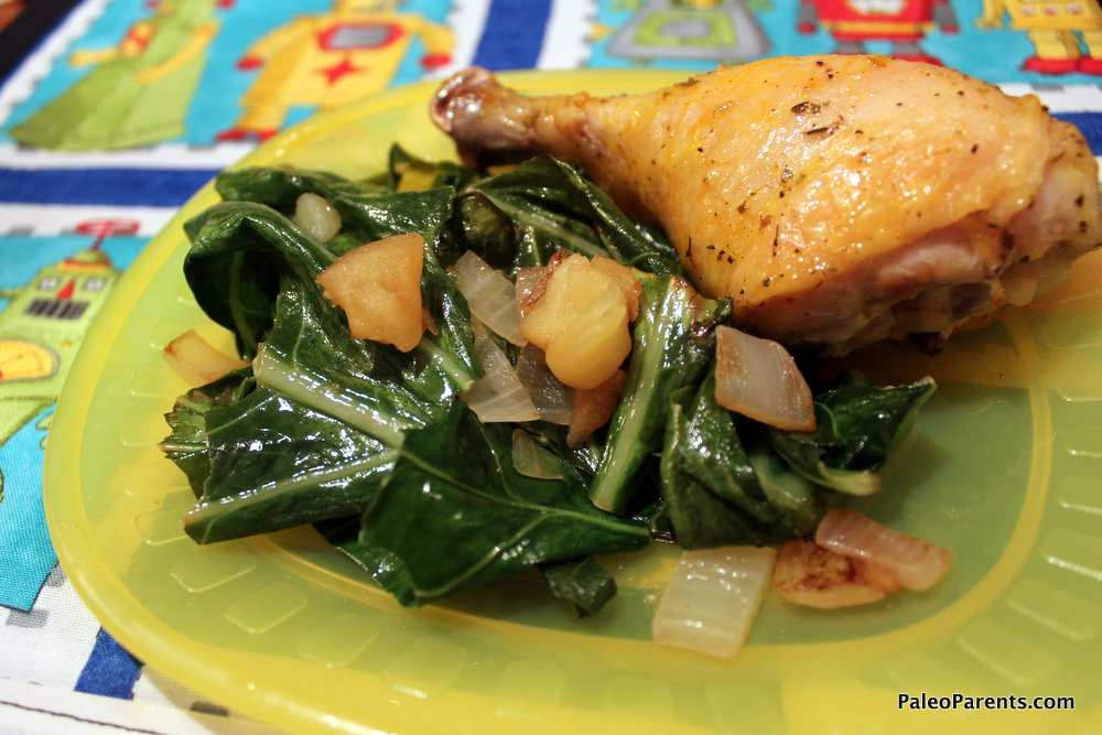 Kale with Apples and Onions