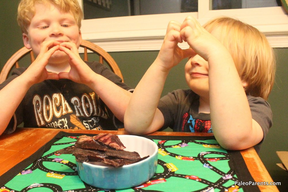 Sweet Heart Jerky Featured Image, Paleo Parents Weekend Wrap Up: HOW We SURVIVED 15 Hours In The Car... No Junk Food & No Electronics! Plus, Finn's Bday & More!