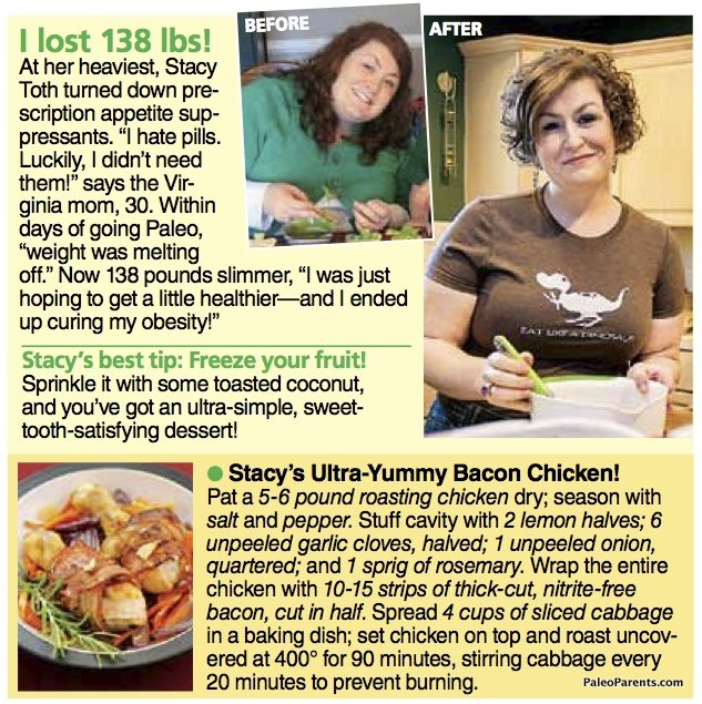 Stacy, the Face of Paleo in Woman's World Magazine