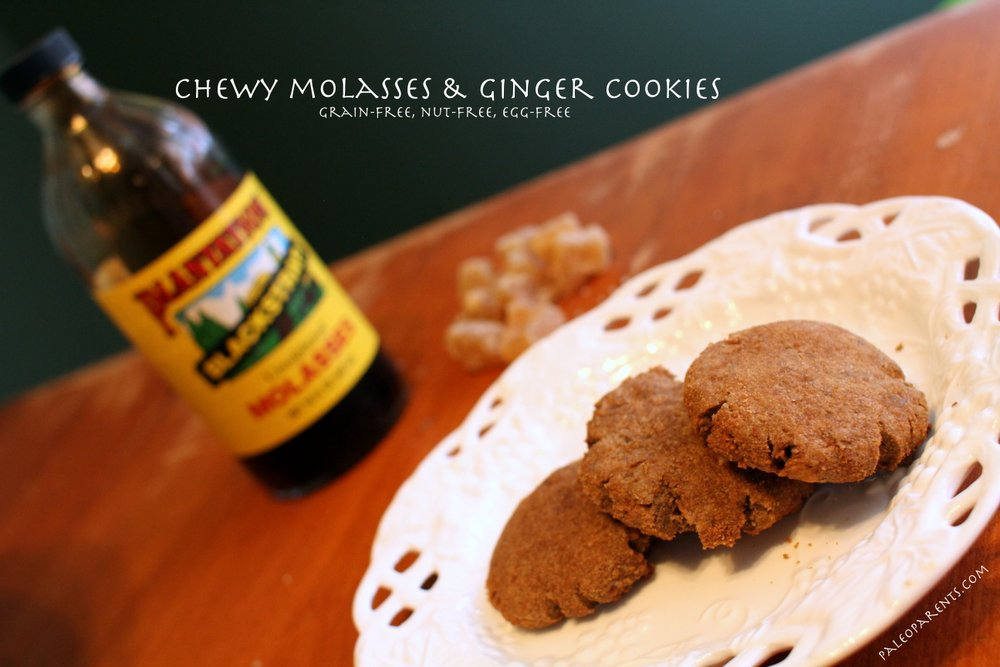 Chewy Molasses Ginger Cookies Featured Image
