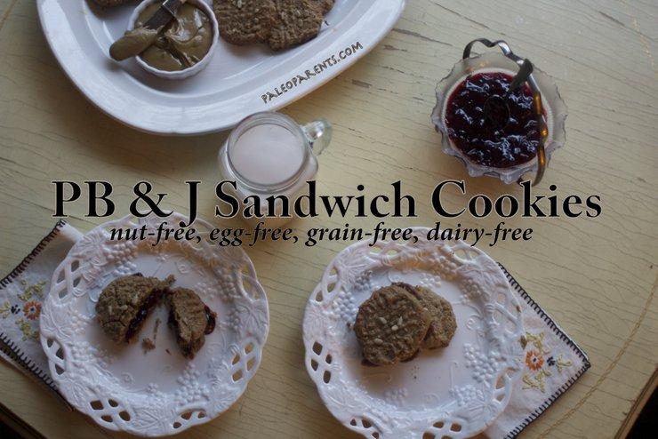 PB&J Sandwhich Cookies by PaleoParents