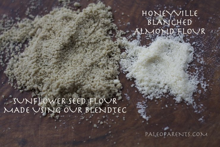 Sunflower Seed Flour vs Almond Flour by PaleoParents