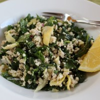 Guest Post, Meatified: Grain Free Couscous Salad with Baby Kale &#038; Artichoke Hearts