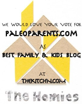 The Homies Award for Best Family & Kid Blog to PaleoParents