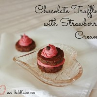 Guest Post, The Fit Cookie: Chocolate Truffles with Strawberry Cream