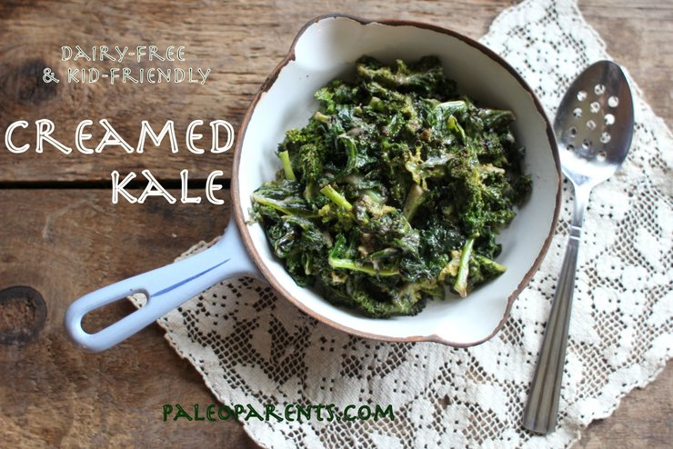Creamed Kale by PaleoParents, Paleo Easter Recipes