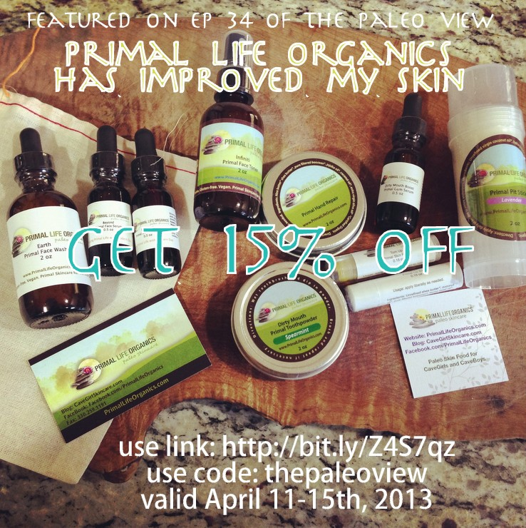 Primal Life Organics Apr 11-15 Discount  by PaleoParents