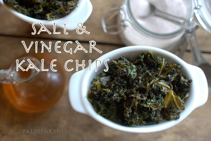 Salt & Vinegar Kale Chips by PaleoParents