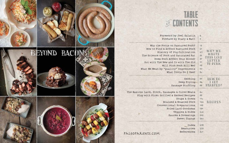 Beyond Bacon Table of Contents by PaleoParents