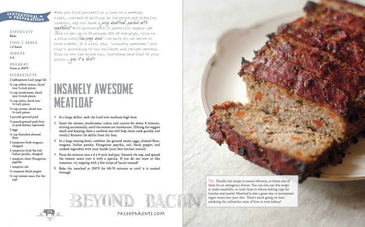 Insanely Awesome Meatloaf from Beyond Bacon by PaleoParents