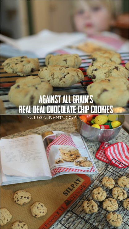 AAGCookbook Real Deal Chocolate Chip Cookies on PaleoParents