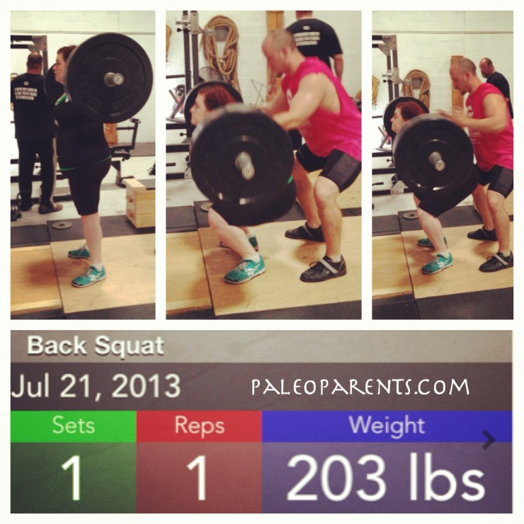 Stacy BackSquat at PaleoParents