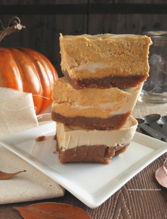 ... Clean Eating with a Dirty Mind: Paleo Pumpkin Swirl Cheesecake Squares