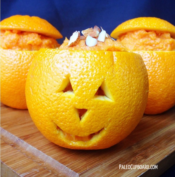 Guest Post, Paleo Cupboard: Mashed Sweet Potatoes in Orange Cups