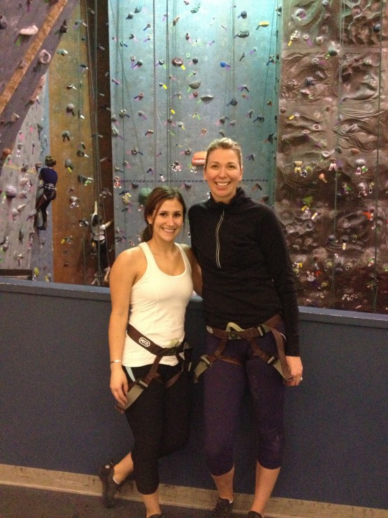 My fitness friend and I rock climbing!