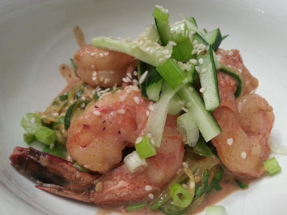 shrimp pad thai, paleo parents