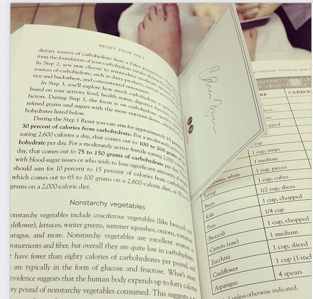 Capture book and pedi