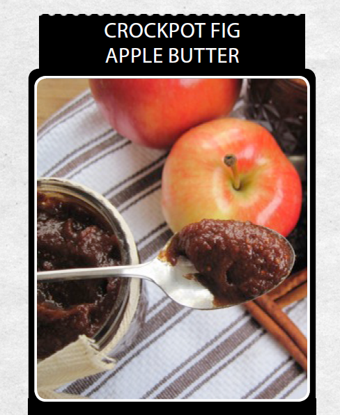 Capture crockpot fig apple butter
