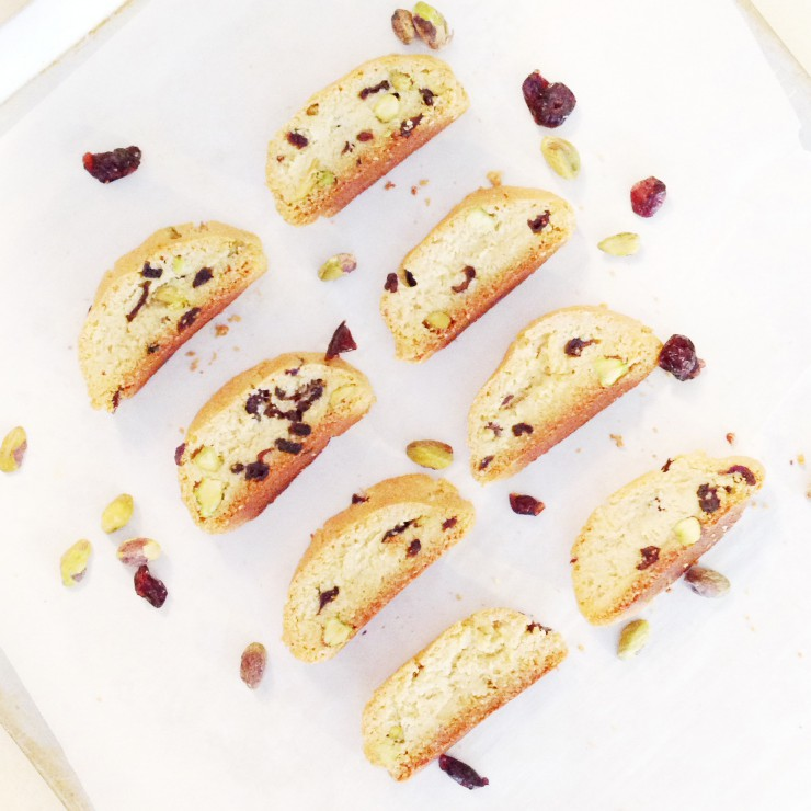 Guest Post, Taylor Made It Paleo: Cranberry Pistachio Biscotti
