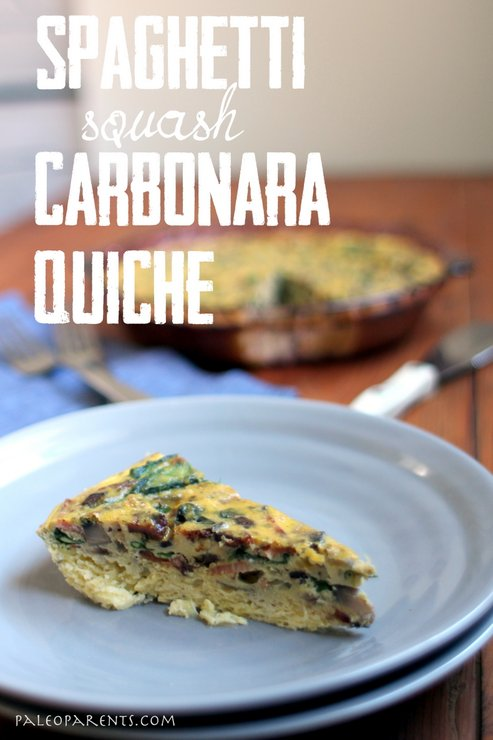 Sqaghetti Carbonara Quiche on PaleoParents.com