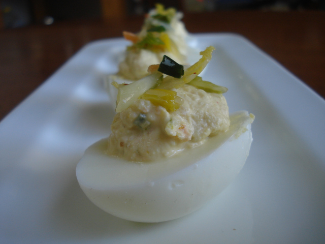 kimichi deviled eggs zenbelly