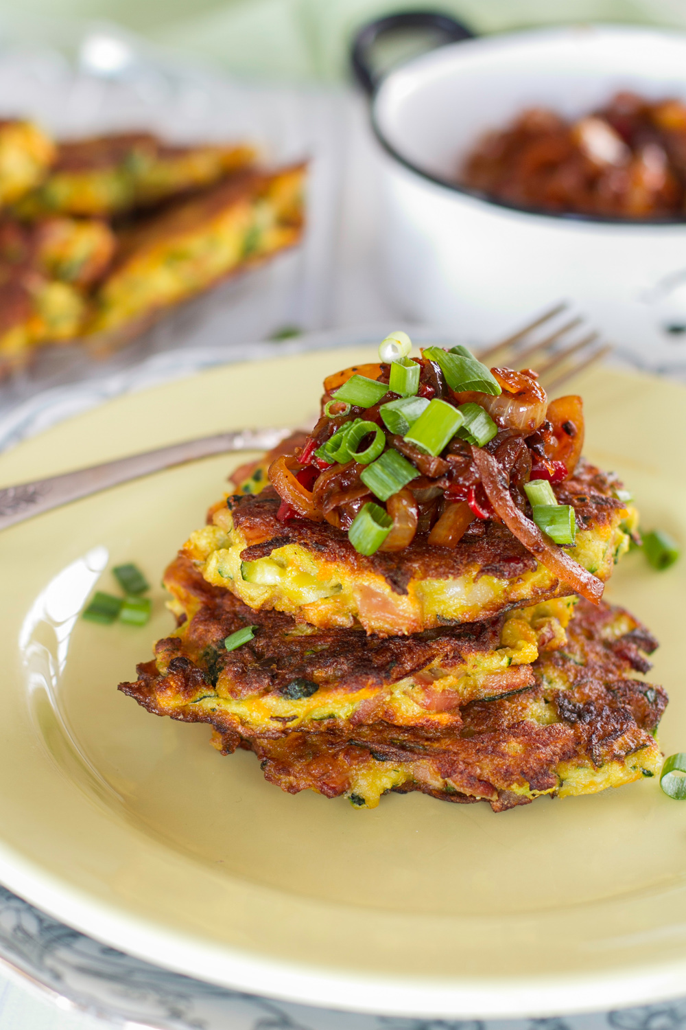 ... Post: Eat Drink Paleo, Zucchini & Bacon Fritters with Onion Relish