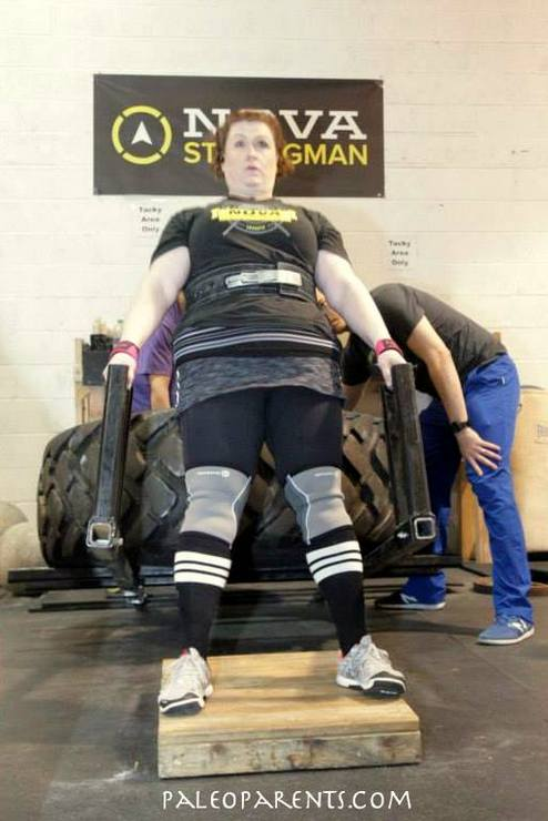 Stacy is NOVA Strongest HW Woman - Car Deadlift - PaleoParents