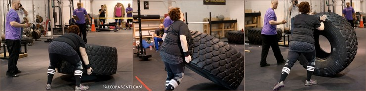 Stacy is NOVA Strongest HW Woman - Tire Flip - PaleoParents