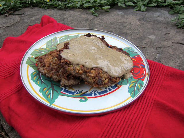 "Guest Post: Three Diets One Dinner, Paleo Chicken Fried Steak with ""Cream"" Gravy"
