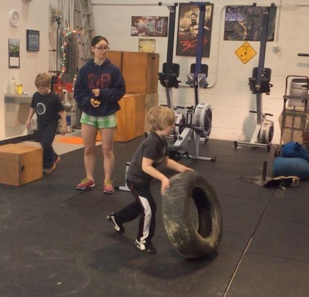 kid tire flips