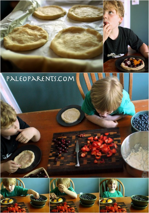 Berries on Fruit Pizzas by Paleo Parents