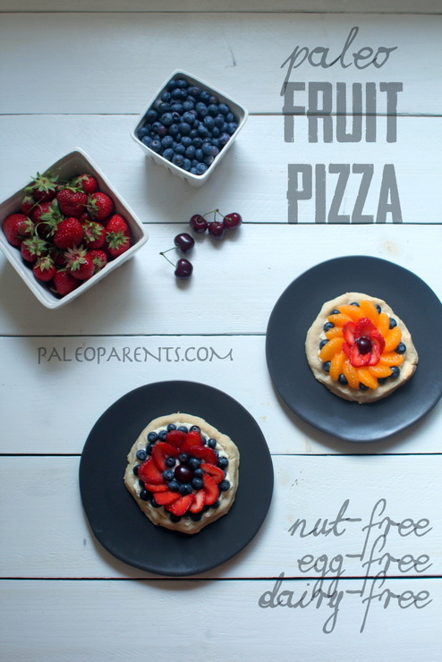 Paleo Fruit Pizza on Paleo Parents