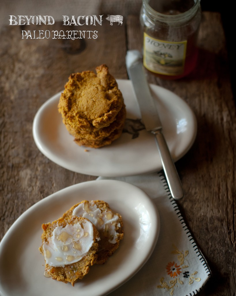 sweet potato drop biscuits from BeyondBacon by PaleoParents, Paleo Easter Recipes