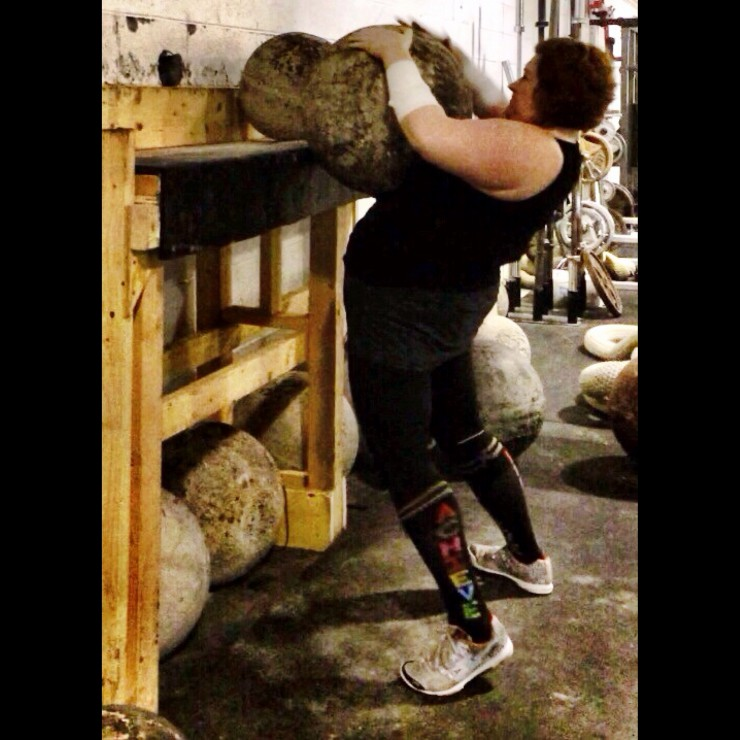 Stacy Lifts 225lb Stone on PaleoParents