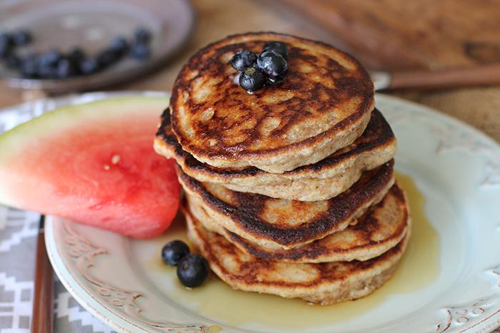 top view pancake stack