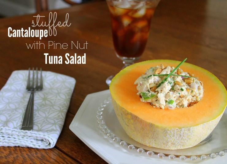 Tuna Stuffed Cantaloupe