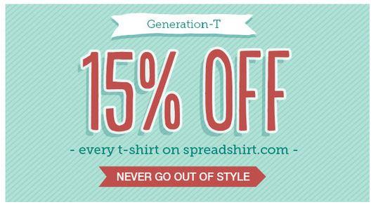 spreadshirt 15 off image