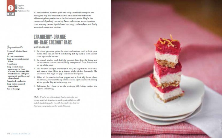 Cranberry Orange (no bake) Coconut Bars from Real Life Paleo by PaleoParents