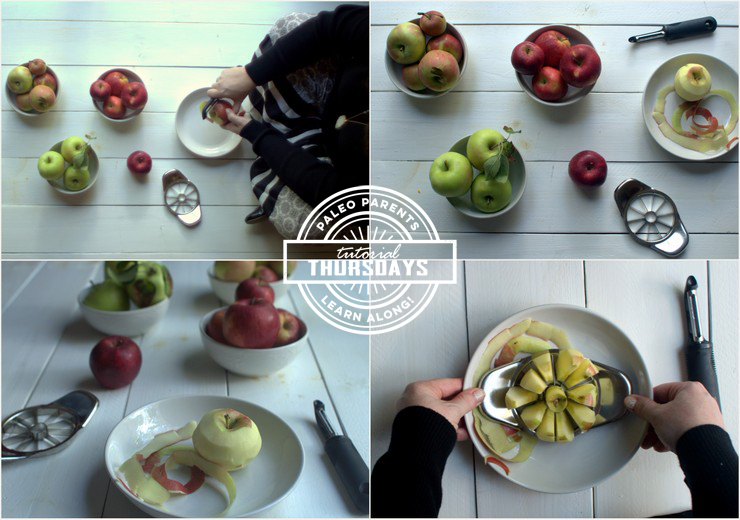 All About Apple Peeling - Tutorial Thursday on Paleo Parents