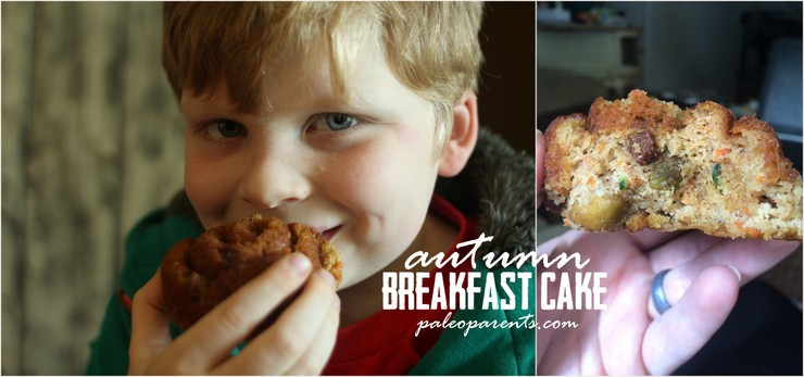 Autumn Breakfast Cake on Paleo Parents by the boys