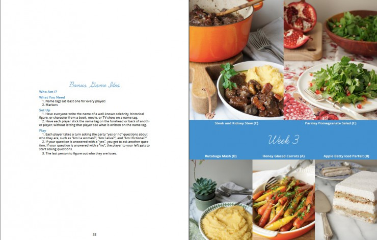 Bonus Game Page from Paleo Approach Dinner Club by Paleo Parents