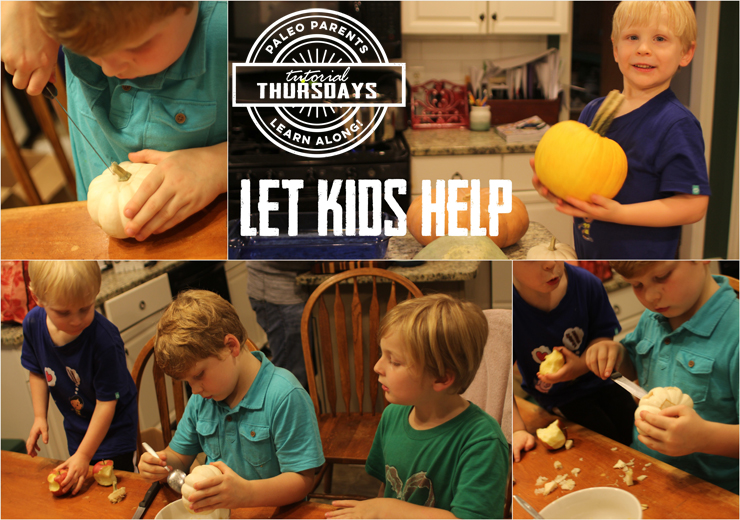 Let Kids Help with Pumpkins on Tutorial Thursday by PaleoParents