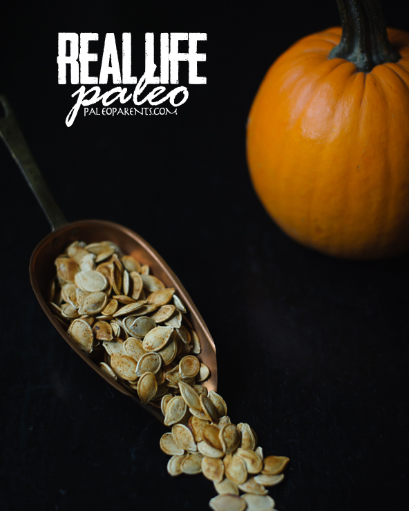 Roasted Pumpkin Seeds from Real Life Paleo by Paleo Parents