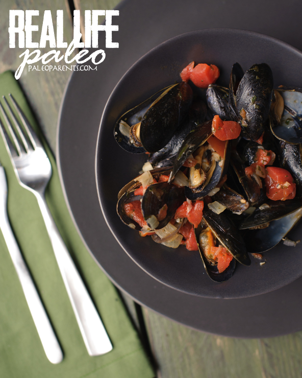 Steamed Mussels from Real Life Paleo by Paleo Parents