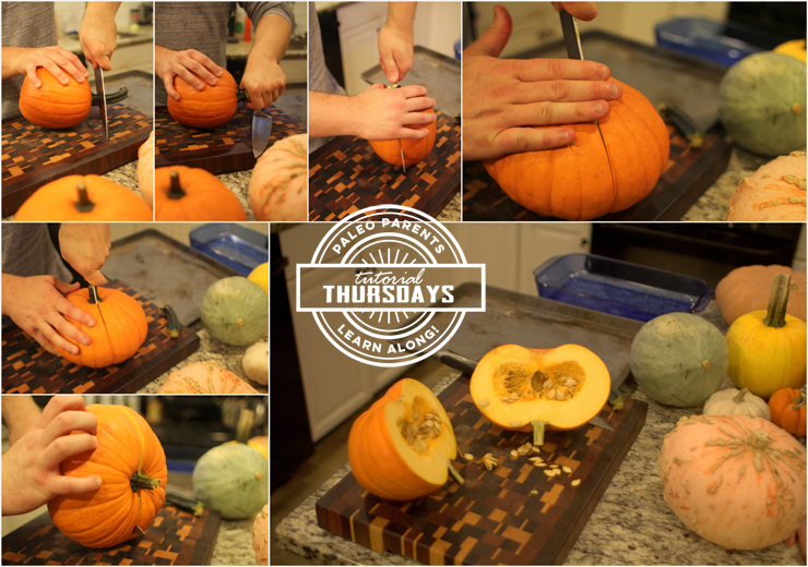 Step 1 Pumpkins on Tutorial Thursday by PaleoParents