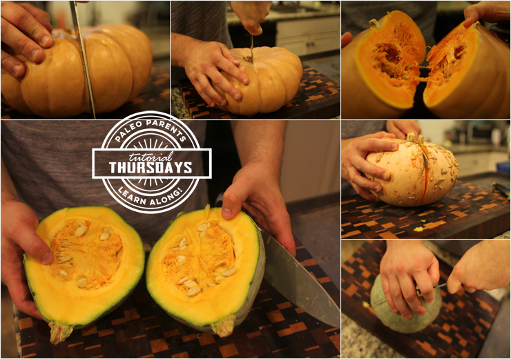 Step 1 for Pumpkins on Tutorial Thursday by PaleoParents